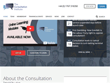Tablet Preview of consultationinstitute.org